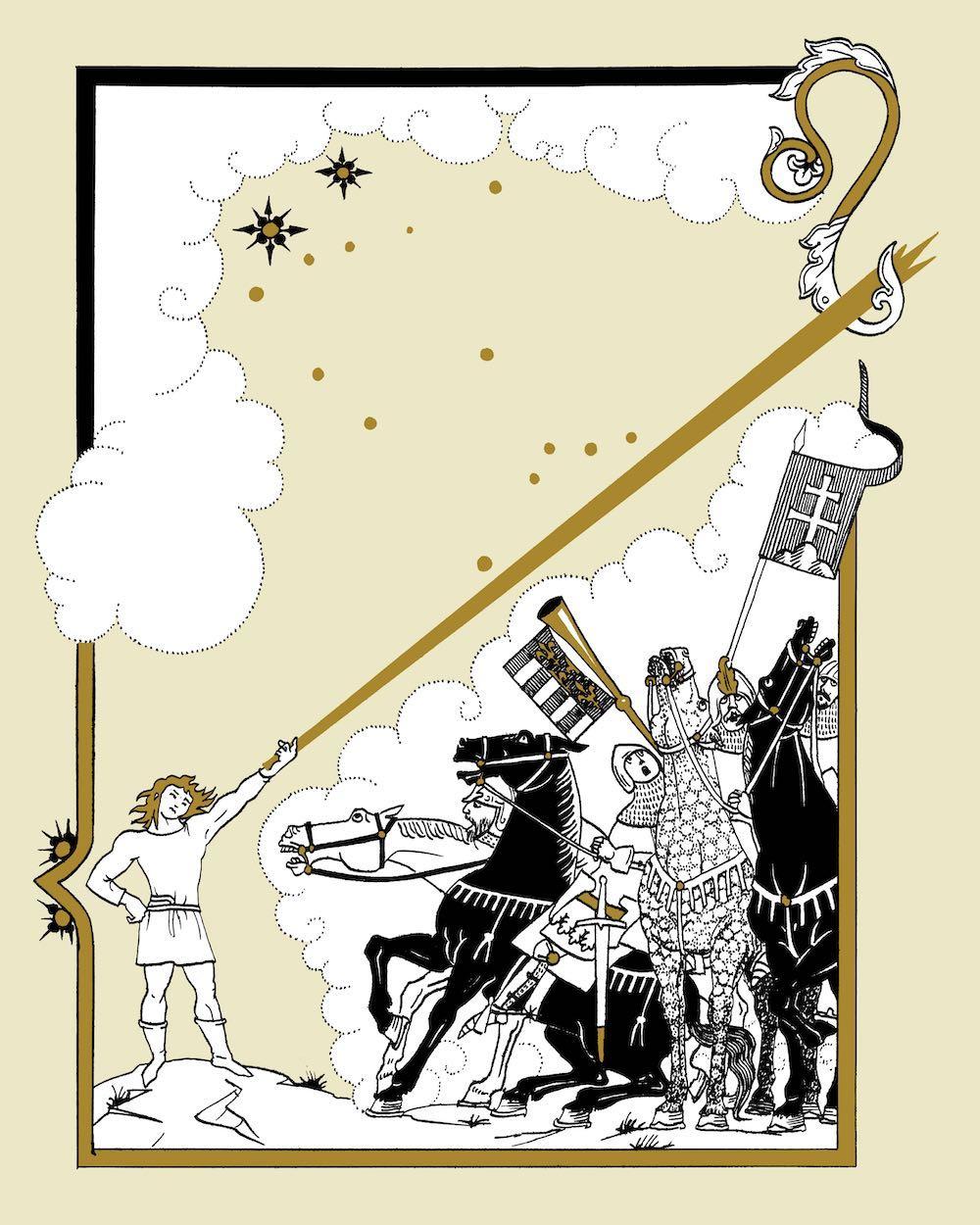 Jankovics-illusztrációk a Toldi 2017-es kiadásában