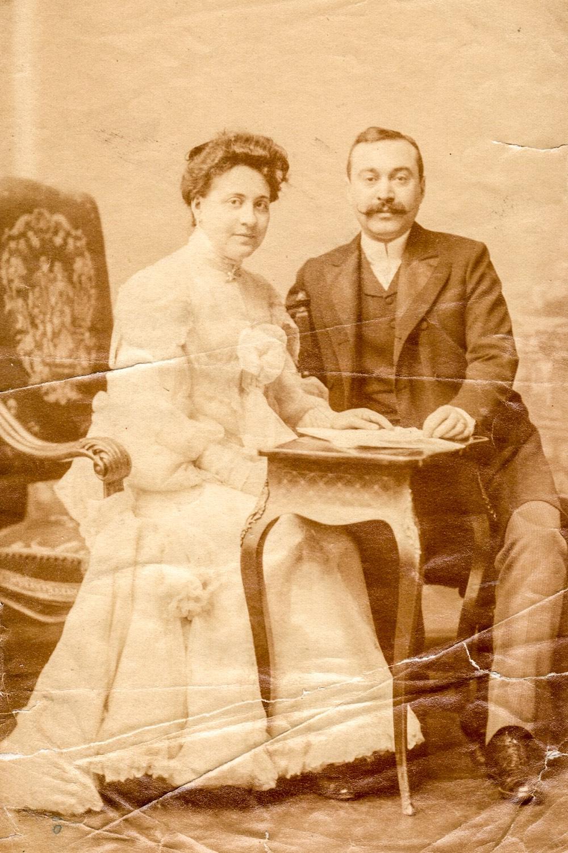 Misner Margit és férje, Politzer Gyula;