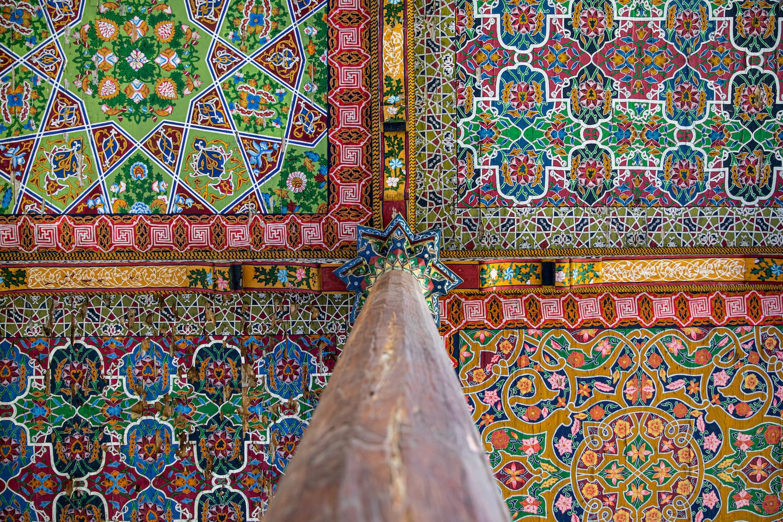 A Dzsami-mecset díszes portikusz-részlete