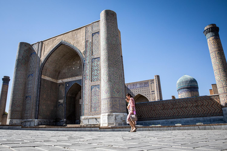 A Bibi Hanim-mecset kívülről